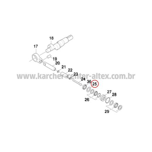 ARRUELA BUCHA D16 KARCHER