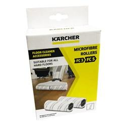 ESCOVA ROLO MICROFIBRA KARCHER FC3 / FC5 - KIT 2 PEÇAS