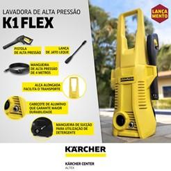 LAVADORA DE ALTA PRESSÃO KARCHER K 1 FLEX