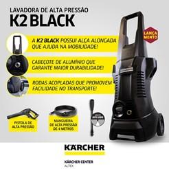 LAVADORA DE ALTA PRESSÃO KARCHER K 2 BLACK