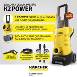LAVADORA DE ALTA PRESSÃO KARCHER K 2 POWER