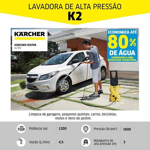 LAVADORA DE ALTA PRESSÃO KARCHER K 2 T-RACER