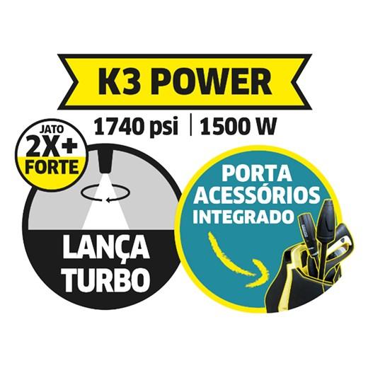 LAVADORA DE ALTA PRESSÃO KARCHER K 3 POWER